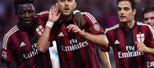 Jeremy Menez in goal contro il Napoli