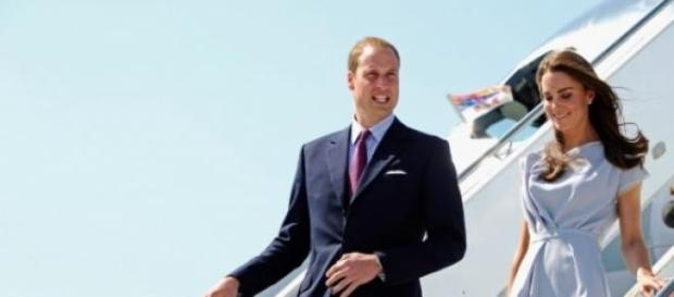 William and Kate disembark their plane in America