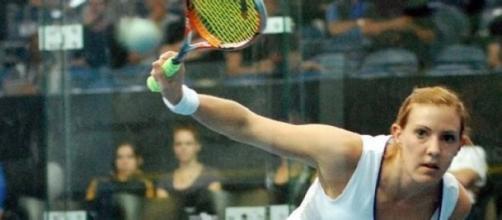Squash player Laura Massaro
