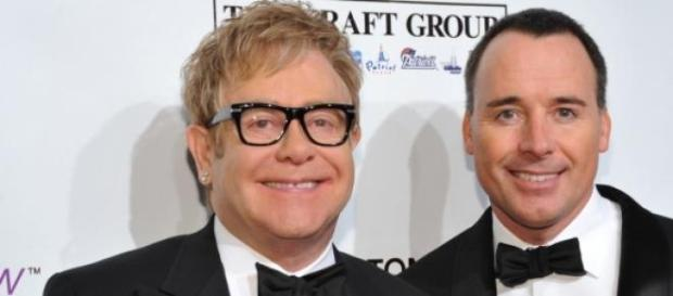 Elton John, boda con David Furnish.