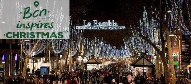 La Rambla a Barcellona durante il Natale