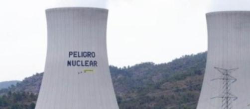 Acción de protesta en la central nuclear
