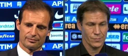 Massimiliano Allegri e Rudi Garcia