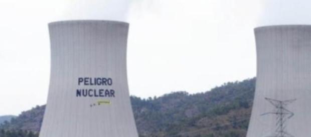 Acción pacífica contra la central nuclear