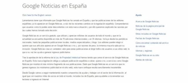 Google News España ya se ha ido