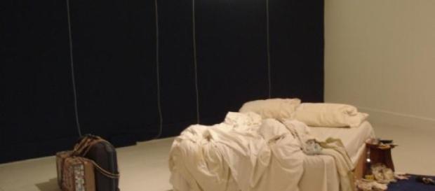 """""""My Bed"""", instalacja autorstwa Tracey Emin"""