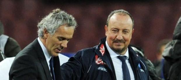Roberto Donadoni e Rafa Benitez