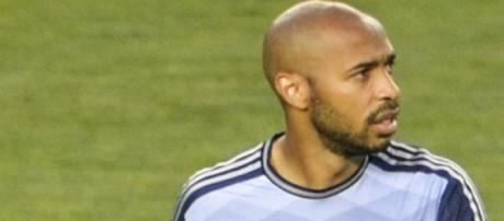 Retired football player Thierry Henry