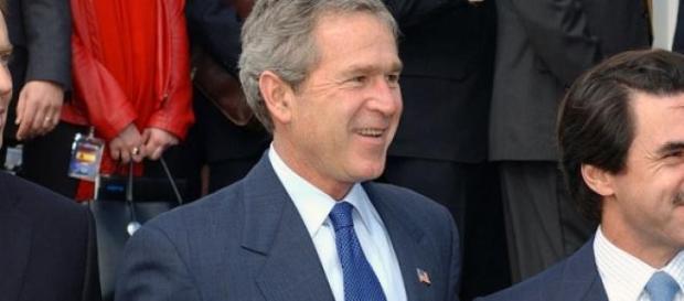 """Bush con su amigo Aznar, alias """"Ansar"""""""