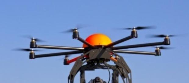 Imagen de un dron actual en funcionamiento