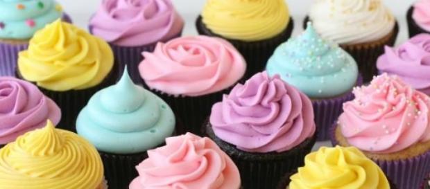 Los cupcake para las fiestas navideñas.