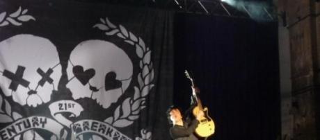 Os norte-americanos Green Day em actuação.