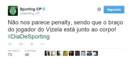 Twitter oficial do Sporting