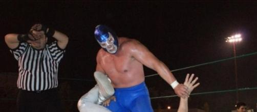 Blue Demon y su eterno rival El Santo