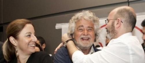 Il leader del Movimento Beppe Grillo