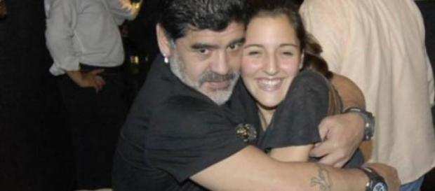 Diego Maradona y su hija Jana.