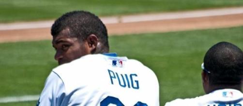 Yasiel Puig en los Dodgers