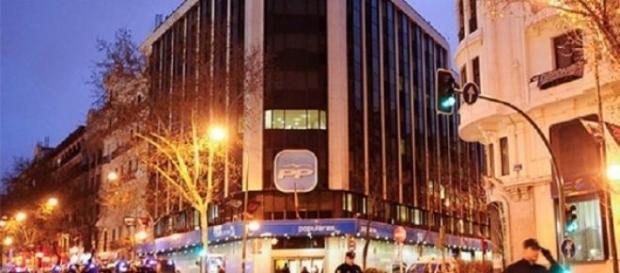 Sede general del PP en la calle Genova de Madrid