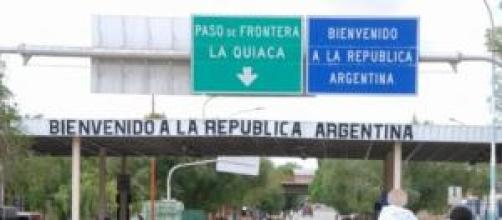 Atravesando la frontera de Argentina