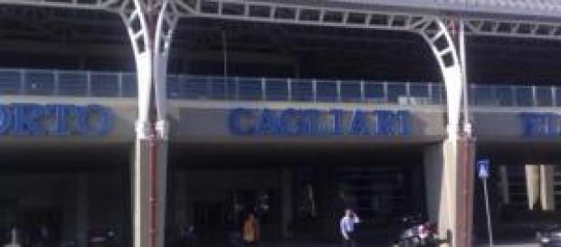 L'ingresso dell'aeroporto di Cagliari Elmas