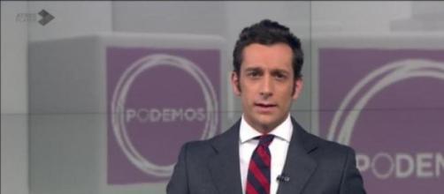 El logo de Podemos en la noticia del ataque al PP