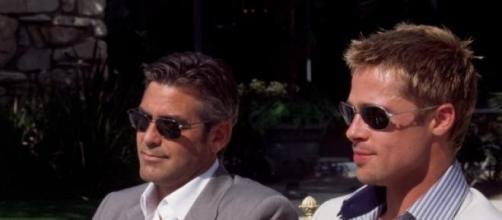 George Clooney y Brad Pitt grandes amigos.