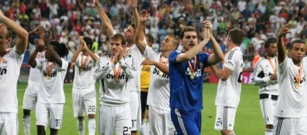 The Real Madrid team players