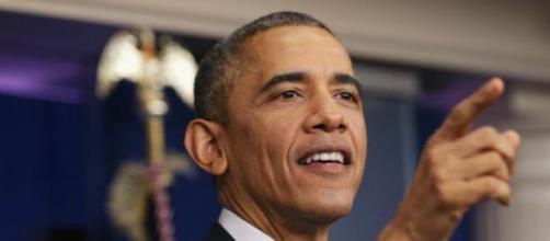 Obama no seu habitual discurso de fim de ano