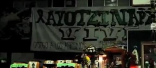 Altar en la Escuela Normal Rural de Ayotzinapa