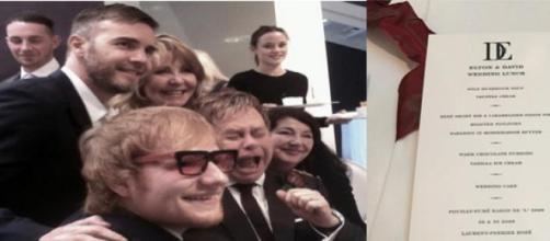Elton John & David Furnish Wedding Lunch
