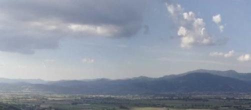 Panorama della Valle del Tevere e della Sabina