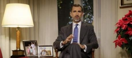 El Rey durante su mensaje navideño