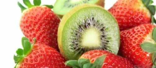 Fresas y kiwi  son ricos en antioxidantes