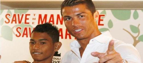 Martunis com Cristiano Ronaldo