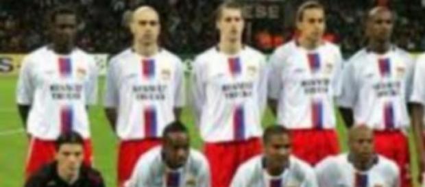 L'équipe de ligue 1 de l'Olympique Lyonnais