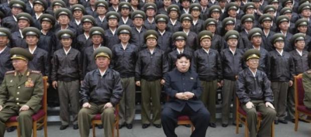 El ejercito de Kim Jong-un.