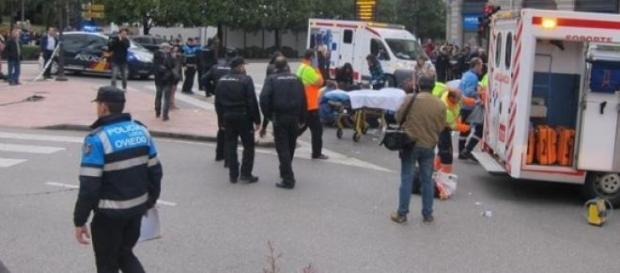 rescate de los niños en Oviedo