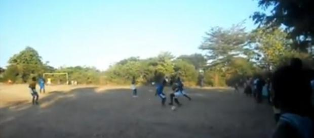 Footballers on trial in Nkhata Bay, Malawi