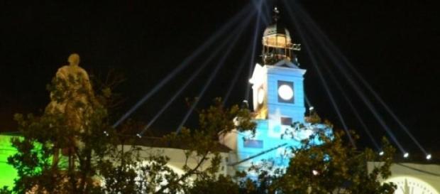 Puerta del Sol (Madrid) en Nochevieja