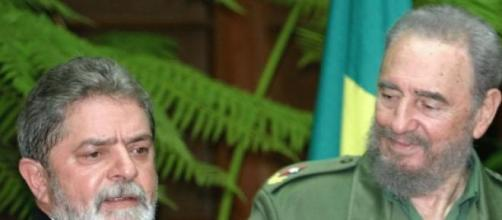 Castro Con Lula Da Silva en imagen de archivo