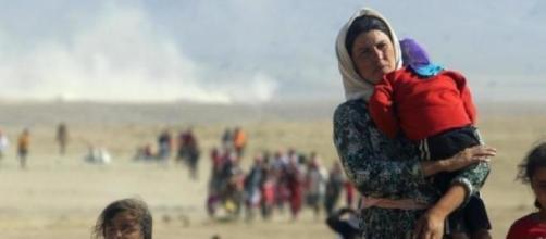 yizadies huyendo del Estado Islámico