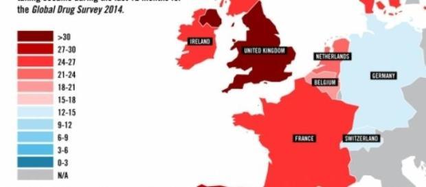 El mapa de la droga en Europa