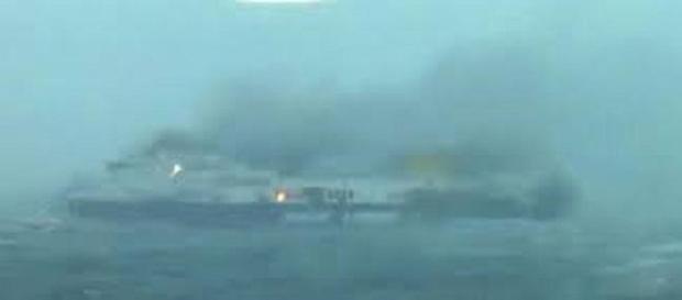 imagen del ferry italiano siniestrado
