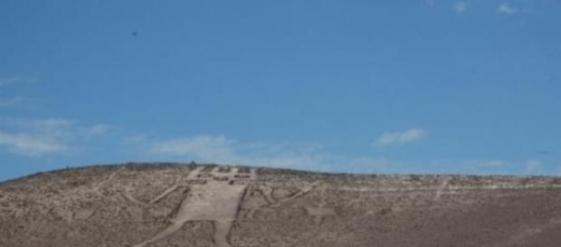 Uno de los grabados del desierto de Atacama