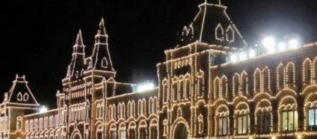 Plaza Roja de Moscu en Navidad