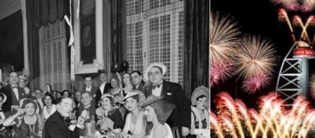 Festas de passagem de ano em 1933 e em 2005