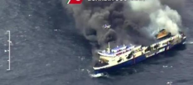 Imagens captadas pela Guarda Costeira Italiana