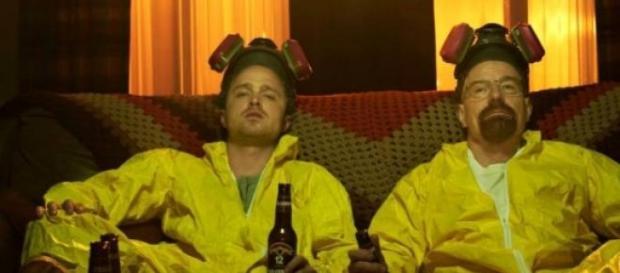 Walter White y Pinkman personajes de Breaking Bad