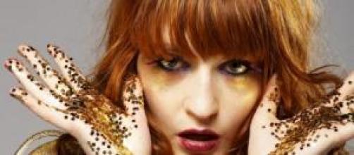 A vocalista da banda britânica, Florence Welsh.