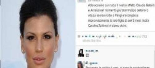 Claudia Galanti choc, morta la figlia di nove mesi